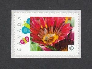 Canadian stamps. Bees and flowers