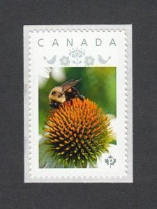 Canadian stamps. Bumblebees and flowers_1