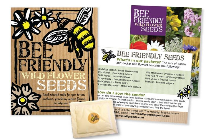Packet of seeds for flower bees